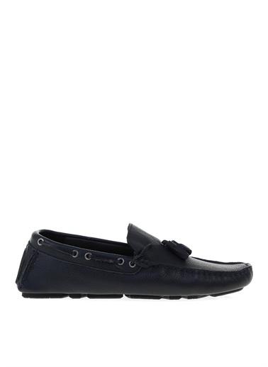 Fabrika Fabrika Lacivert Deri Günlük Ayakkabı Lacivert